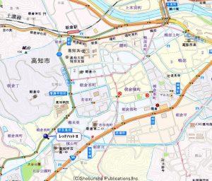 地図 シエルホーム 高知市朝倉西町2-2-1 レッドハットⅡ